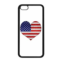 Grunge Heart Shape G8 Flags Apple iPhone 5C Seamless Case (Black)