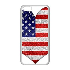 Grunge Heart Shape G8 Flags Apple iPhone 5C Seamless Case (White)