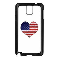 Grunge Heart Shape G8 Flags Samsung Galaxy Note 3 N9005 Case (Black)