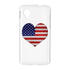 Grunge Heart Shape G8 Flags Google Nexus 5 Hardshell Case