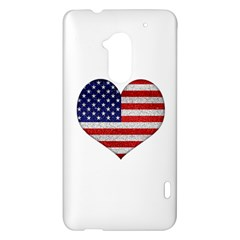 Grunge Heart Shape G8 Flags HTC One Max (T6) Hardshell Case