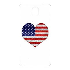 Grunge Heart Shape G8 Flags Samsung Galaxy Note 3 N9005 Hardshell Back Case