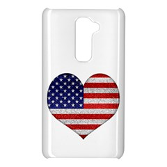 Grunge Heart Shape G8 Flags LG G2 Hardshell Case