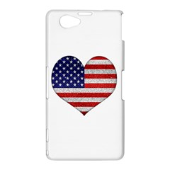 Grunge Heart Shape G8 Flags Sony Xperia Z1 Compact Hardshell Case