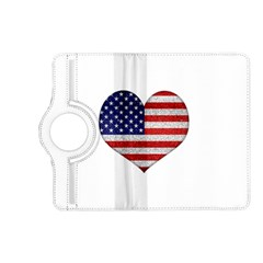 Grunge Heart Shape G8 Flags Kindle Fire HD 7  (2nd Gen) Flip 360 Case