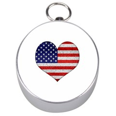 Grunge Heart Shape G8 Flags Silver Compass