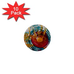 Art Therapy 1  Mini Button Magnet (10 pack)
