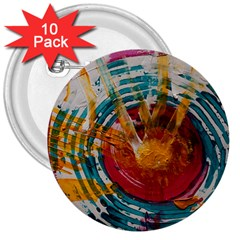 Art Therapy 3  Button (10 pack)