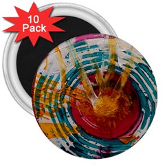 Art Therapy 3  Button Magnet (10 pack)