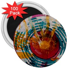 Art Therapy 3  Button Magnet (100 pack)