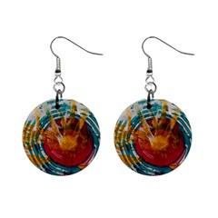 Art Therapy Mini Button Earrings