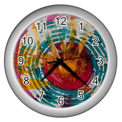 Art Therapy Wall Clock (Silver)