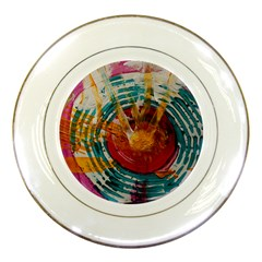 Art Therapy Porcelain Display Plate