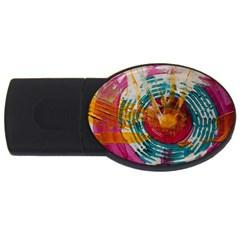Art Therapy 4gb Usb Flash Drive (oval)