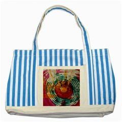 Art Therapy Blue Striped Tote Bag