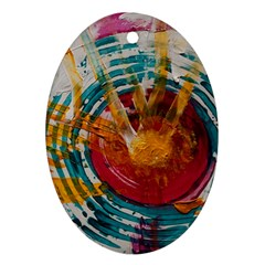Art Therapy Oval Ornament (two Sides)
