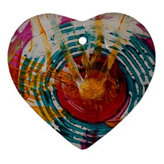 Art Therapy Heart Ornament (two Sides)