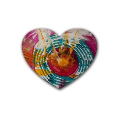 Art Therapy Drink Coasters 4 Pack (heart)
