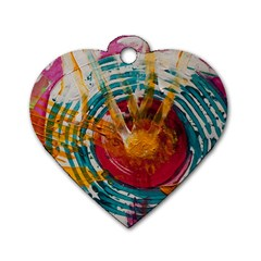 Art Therapy Dog Tag Heart (one Sided)