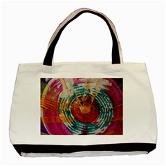 Art Therapy Twin-sided Black Tote Bag