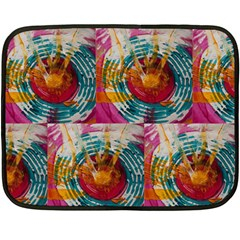 Art Therapy Mini Fleece Blanket (Two Sided)