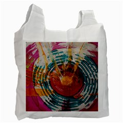 Art Therapy White Reusable Bag (one Side)