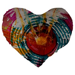 Art Therapy 19  Premium Heart Shape Cushion