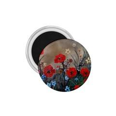 Poppy Garden 1 75  Button Magnet