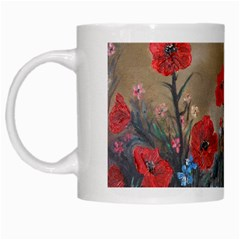 Poppy Garden White Coffee Mug