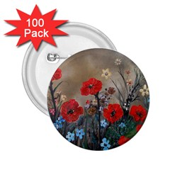 Poppy Garden 2.25  Button (100 pack)