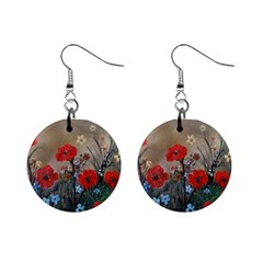 Poppy Garden Mini Button Earrings