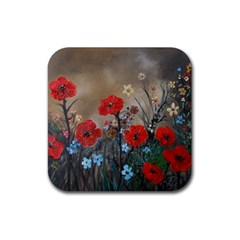 Poppy Garden Drink Coasters 4 Pack (Square)