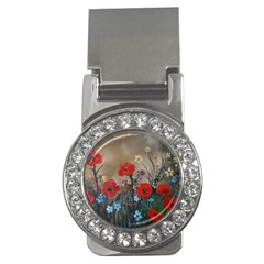 Poppy Garden Money Clip (CZ)