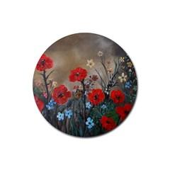 Poppy Garden Drink Coaster (Round)