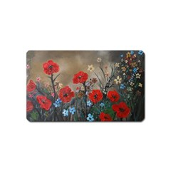 Poppy Garden Magnet (Name Card)
