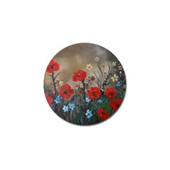 Poppy Garden Golf Ball Marker 4 Pack