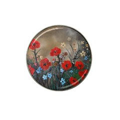 Poppy Garden Golf Ball Marker 4 Pack (for Hat Clip)
