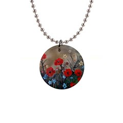 Poppy Garden Button Necklace