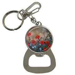 Poppy Garden Bottle Opener Key Chain