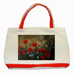 Poppy Garden Classic Tote Bag (red)