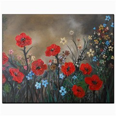 Poppy Garden Canvas 8  x 10  (Unframed)