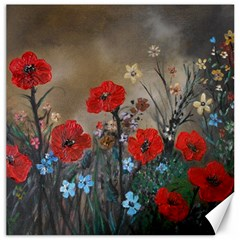 Poppy Garden Canvas 20  x 20  (Unframed)