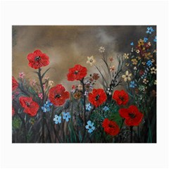 Poppy Garden Glasses Cloth (Small, Two Sided)