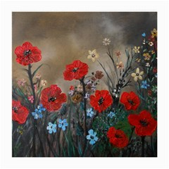 Poppy Garden Glasses Cloth (Medium, Two Sided)