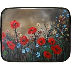 Poppy Garden Mini Fleece Blanket (Two Sided)