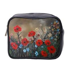 Poppy Garden Mini Travel Toiletry Bag (two Sides)