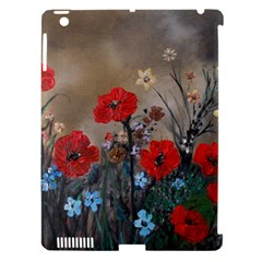 Poppy Garden Apple iPad 3/4 Hardshell Case (Compatible with Smart Cover)