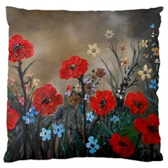 Poppy Garden Large Cushion Case (two Sided)
