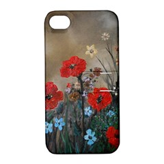 Poppy Garden Apple Iphone 4/4s Hardshell Case With Stand