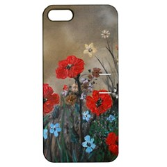 Poppy Garden Apple Iphone 5 Hardshell Case With Stand